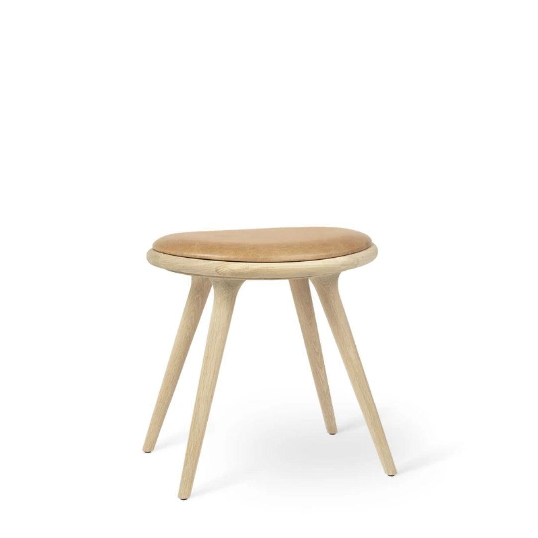oak low bar stool