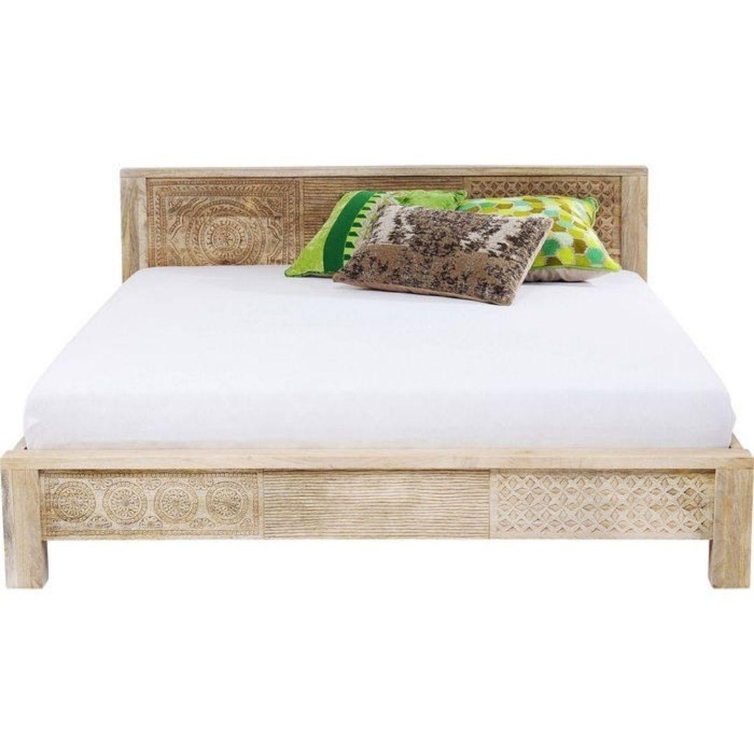 wood single bed mattress