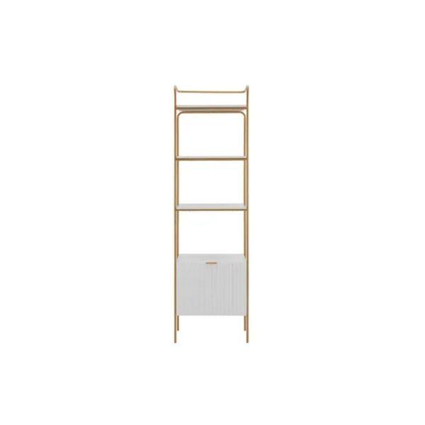 white open shelf bookcase
