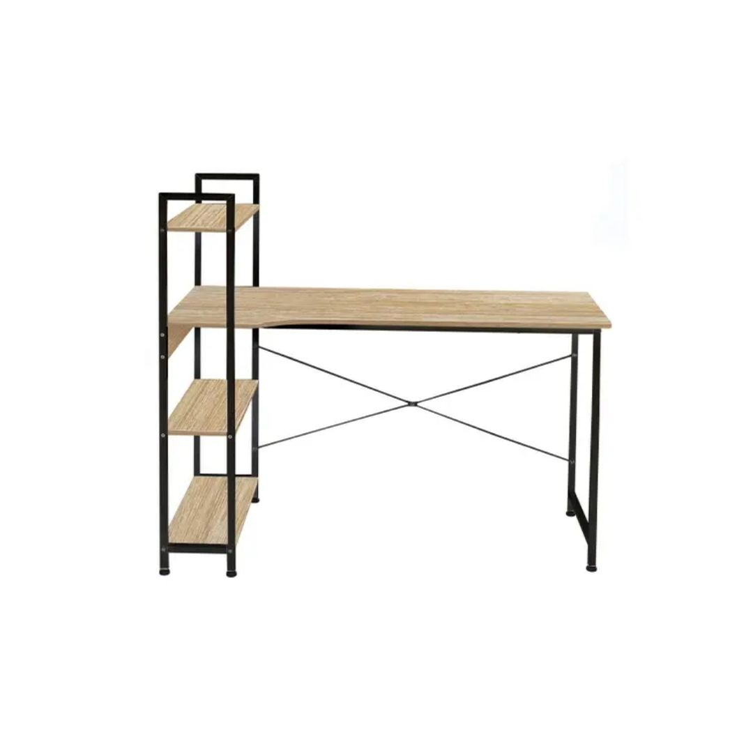 Open Shelf Bookcase with table
