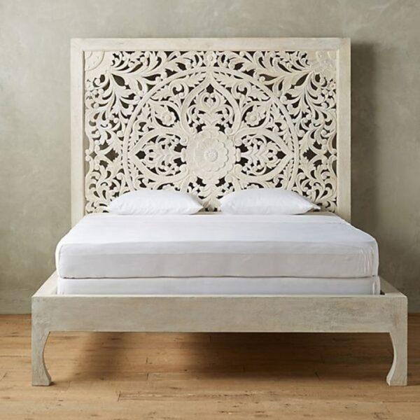hand carved bed frame