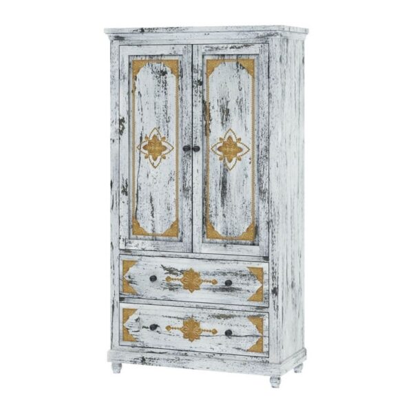 brass solid wood cabinet