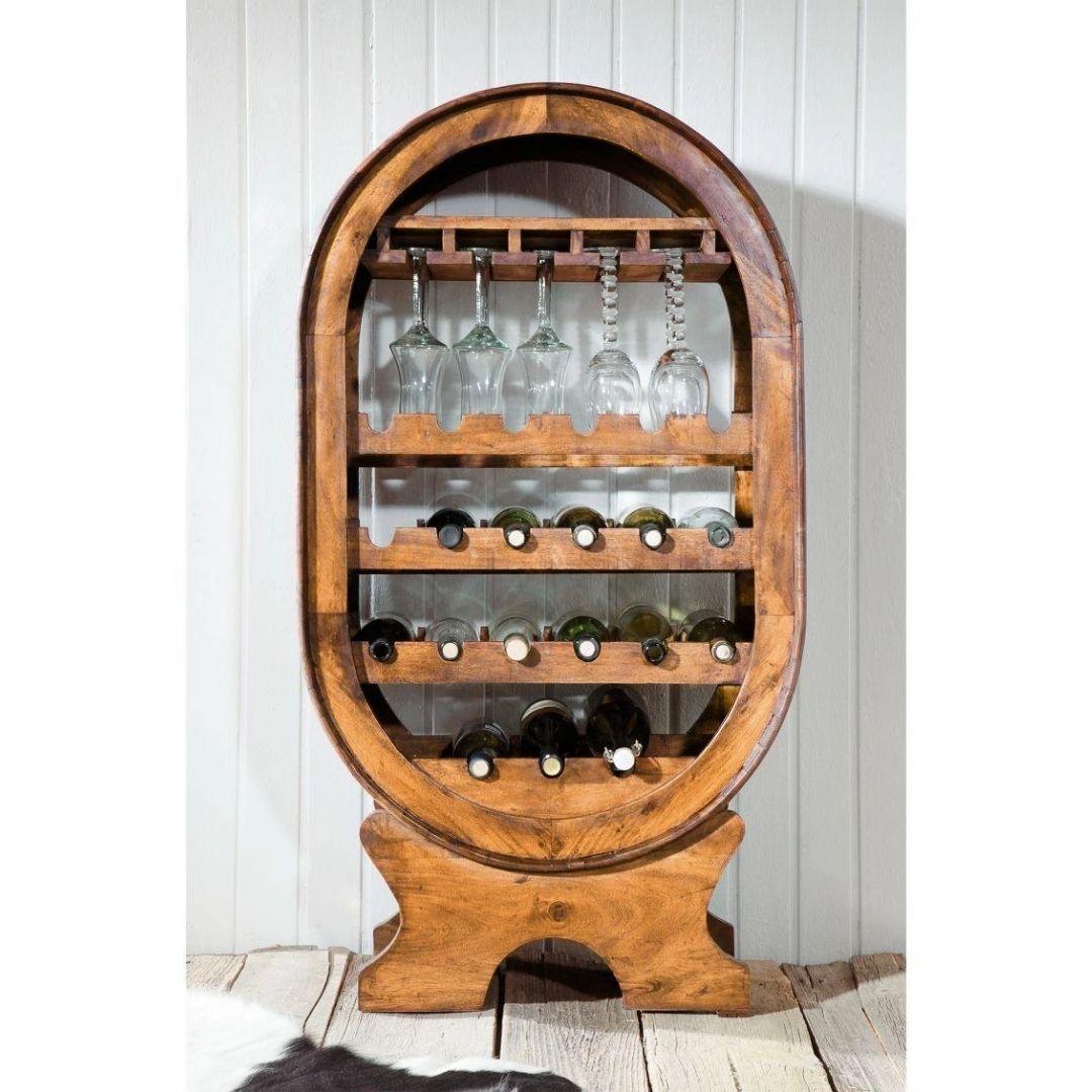 sheesham wood wine rack