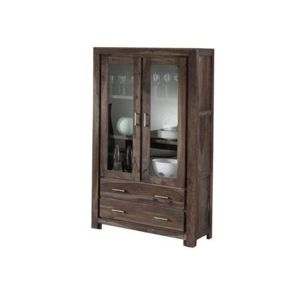 2 glass door cabinet