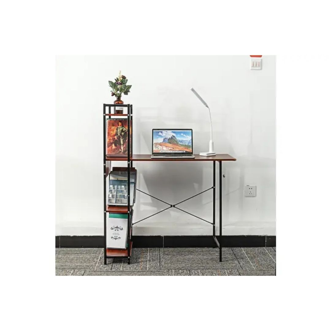 bookcase with table