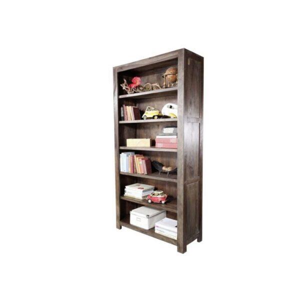Brown Solid Wood Bookshelf