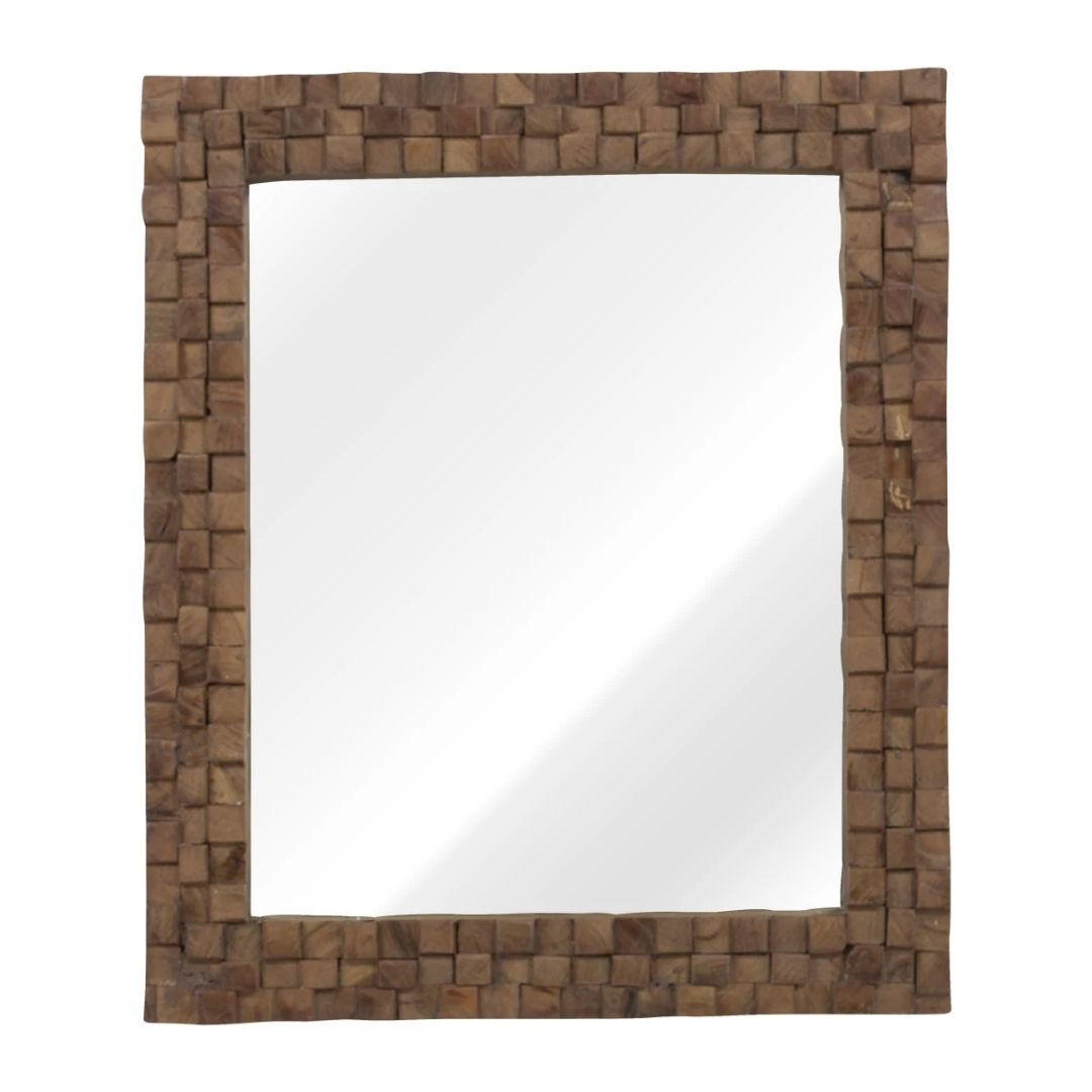 solid wood wall mirror