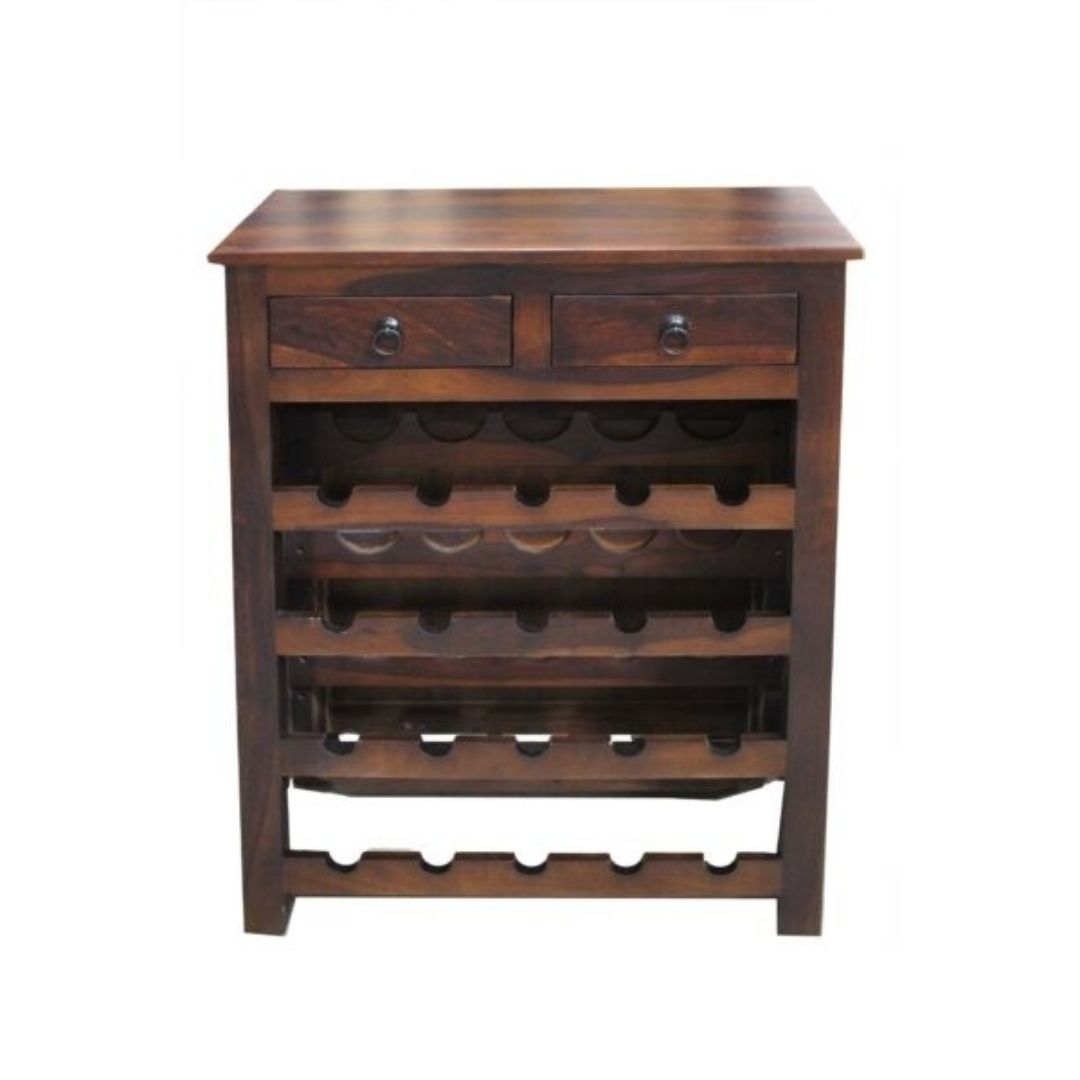 brown bar cabinet
