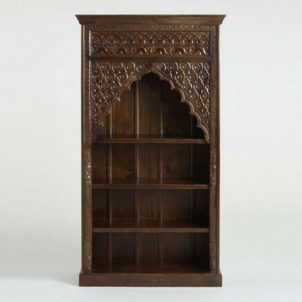 hand carved bookshelf