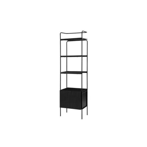 open shelf bookcase black