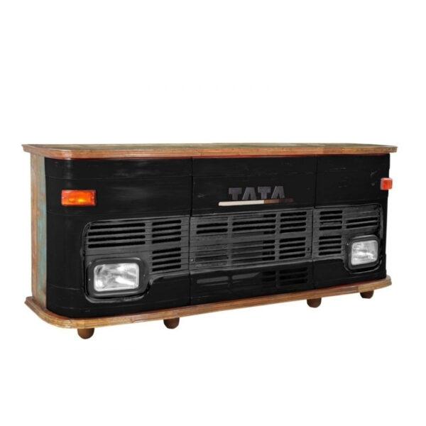 wooden truck bar cabinet
