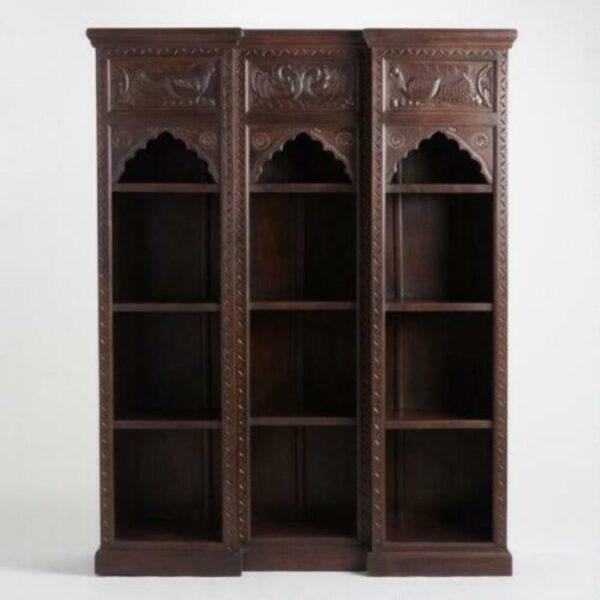 hand carved bookshelves