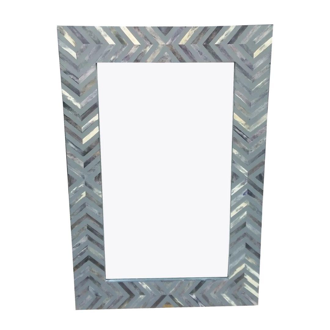 bone inlay rectangular mirror
