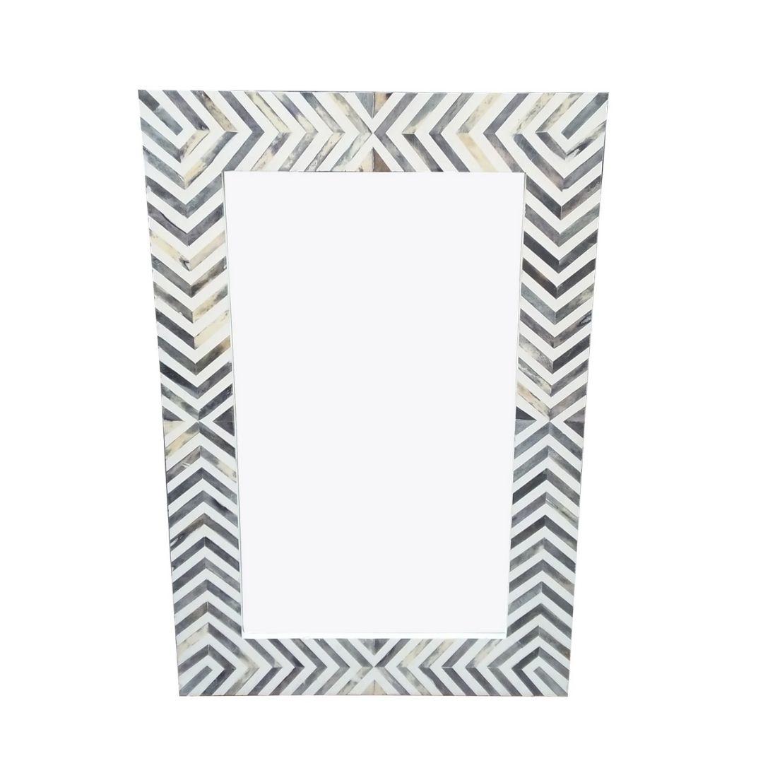 grey zig-zag mirror