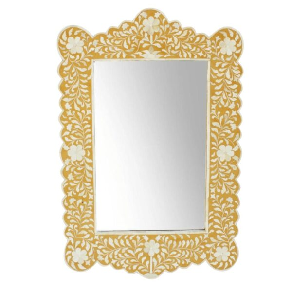 yellow floral mirror